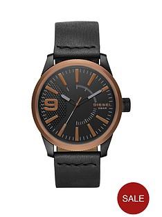 diesel-rasp-copper-ip-black-leather-strap-mens-watch