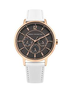 french-connection-french-connection-rose-gold-grey-dial-chronograph-white-leather-strap-ladies-watch