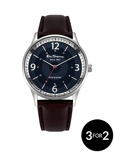ben-sherman-ben-sherman-blue-dial-brown-leather-look-strap-mens-watch