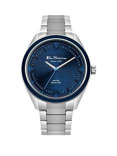 ben-sherman-ben-sherman-blue-dial-and-bezel-stainless-steel-bracelet-mens-watch