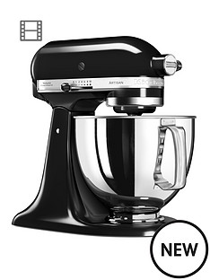 kitchenaid-125-artisan-48l-stand-mixer-onyx-black-ndash-free-pasta-attachment-worth-pound129-for-first-100-orders