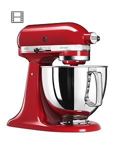 kitchenaid-125-artisan-48l-stand-mixer-empire-red-ndash-free-pasta-attachment-worth-pound129-for-first-100-orders