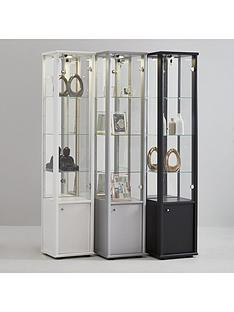 neptune-single-mirrored-display-unit-black