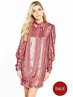 v-by-very-volume-sleeve-embellished-dressnbsp