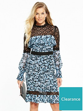 v-by-very-pintuck-printed-lace-frill-dress