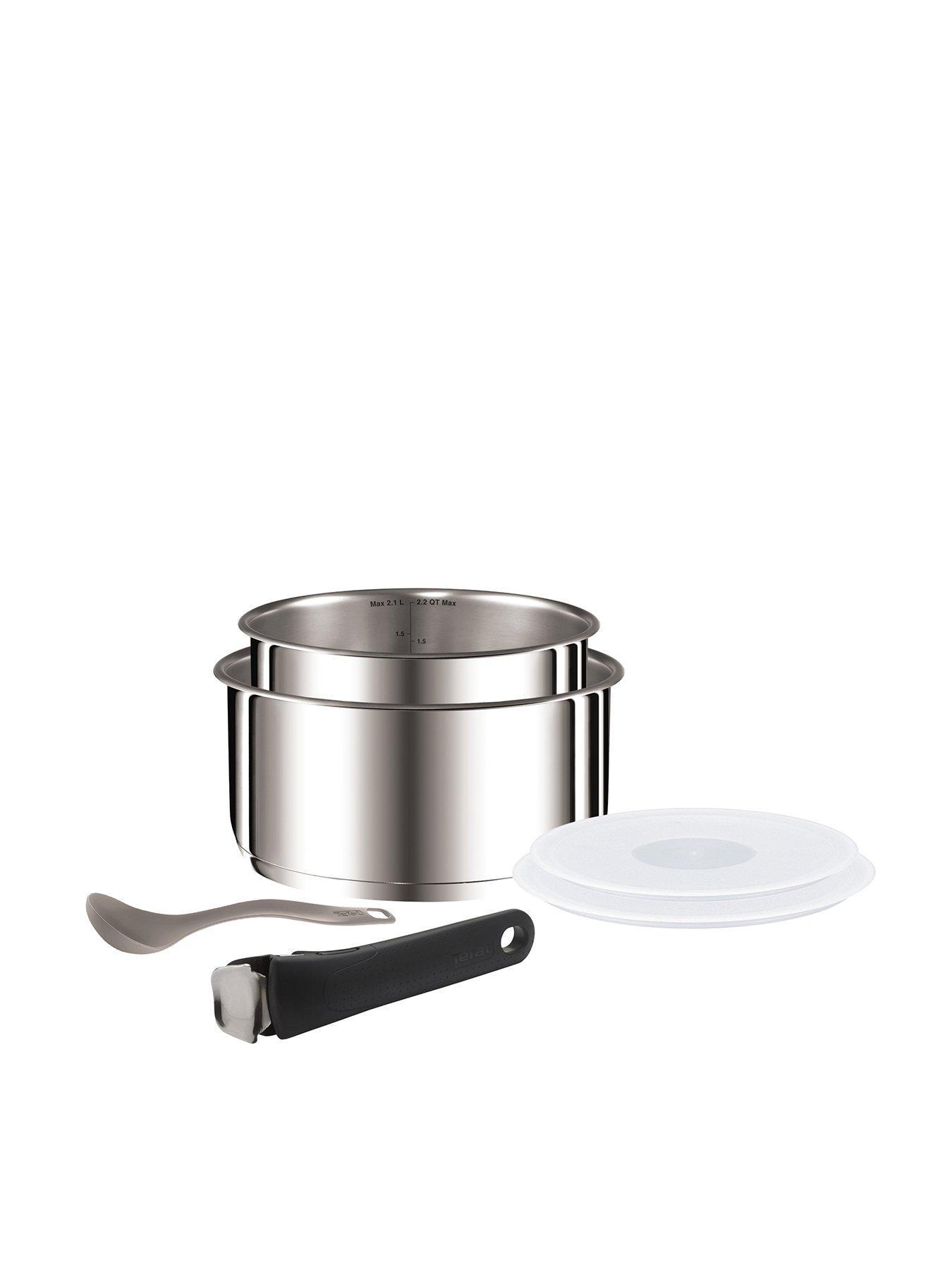 Tefal Ingenio Universal Stainless Steel Straining Lid with Saucepans