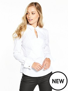 karen-millen-tailored-wrap-white-shirt