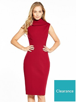 karen-millen-high-neckline-pencil-dress