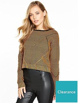karen-millen-chevron-knit-collection-jumper