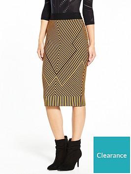 karen-millen-chevron-knit-collection-skirt