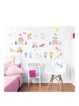 walltastic-unicorn-kingdom-wall-sticker-pack