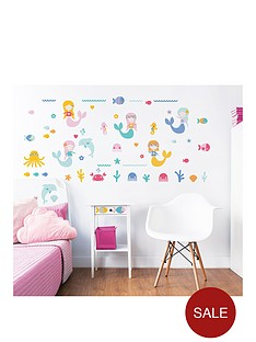 walltastic-mermaid-wall-sticker-pack