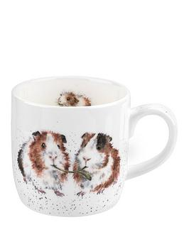 royal-worcester-wrendale-lettuce-be-friends-guinea-pig-single-mug