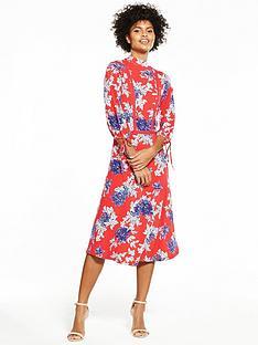 v-by-very-jersey-ladder-trim-printed-midi-dress