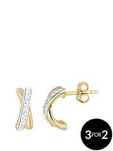 evoke-evoke-sterling-silver-gold-plated-amp-swarovski-elements-kiss-stud-earrings