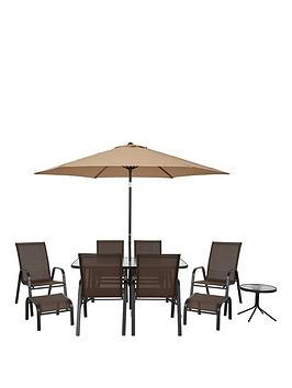 Versailles 11 Piece Outdoor Furniture Set   Brown | Littlewoodsireland.ie
