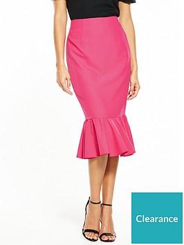 v-by-very-frill-hem-midi-skirt-pink