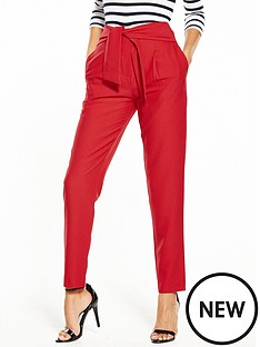 v-by-very-bow-detail-tapered-leg-trouser
