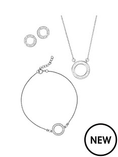 evoke-evoke-sterling-silver-amp-swarovski-elements-halo-necklace-bracelet-and-earrings-set