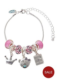 me-to-you-tatty-teddy-silver-plated-princess-beaded-charm-bracelet
