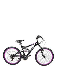 dbb28f6829f Muddyfox Inca Dual Suspension Girls Mountain Bike 24 inch Wheel