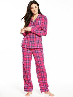 v-by-very-checknbsplong-sleeved-flannel-pyjama-set