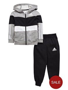 adidas-adidas-younger-boy-fz-fleece-hooded-suit
