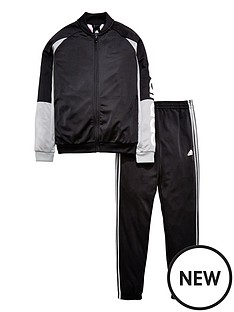adidas-older-boy-linear-poly-tracksuit