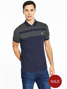 fred-perry-stripe-panel-pique-polo