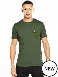 lyle-scott-lyle-amp-scott-flecked-pocket-t-shirt