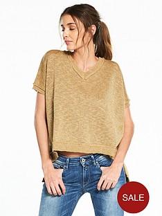 replay-lurex-mix-knit-ss-jumper