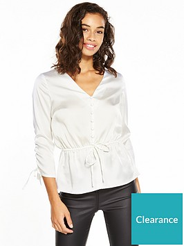 v-by-very-petite-button-detail-blouse