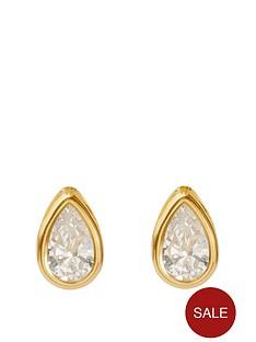 love-gold-9ct-yellow-gold-teardrop-rubover-stud-earrings