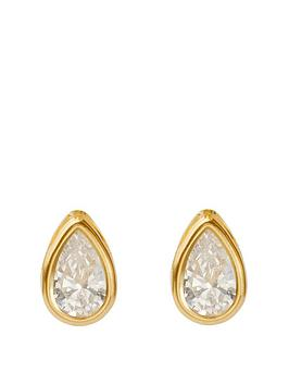 love-gold-9ct-yellow-gold-teardrop-rubover-stud-earrings