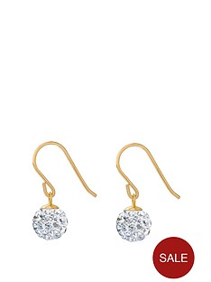 love-gold-9ct-gold-6mm-white-crystal-glitterball-drop-earrings