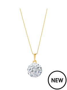 love-gold-9ct-gold-8mm-crystal-glitterball-pendant-with-16in-chain