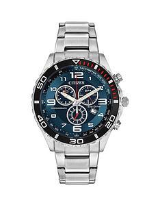 citizen-eco-drivenbspblue-chronograph-dial-stainless-steel-bracelet-mensnbspwatch