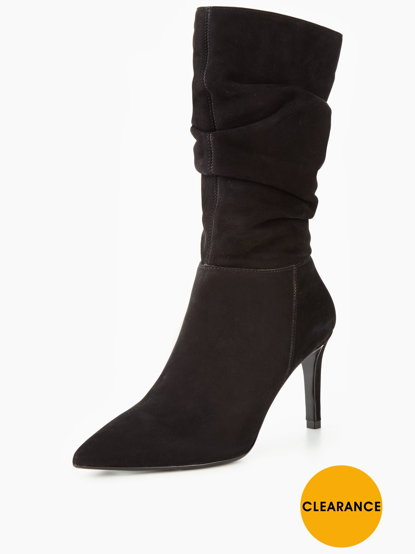 Dune Reenie Dressy Ruched Calf Boot 1600201143 Women's Shoes Dune Boots