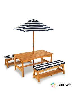 kidkraft-outdoor-picnic-table-amp-bench-set-with-cushions-amp-umbrella