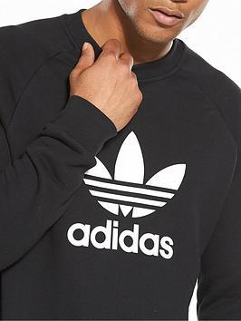 98c6187412ac adidas Originals Trefoil Crew Neck Sweat | littlewoodsireland.ie
