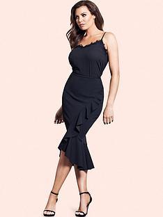 jessica-wright-alessandra-frill-midi-skirt
