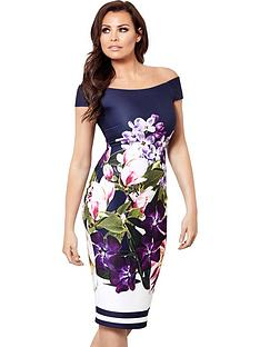 jessica-wright-pascala-bardot-floral-bodycon-dress