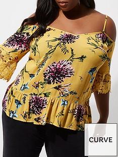 ri-plus-floral-cold-shoulder-top