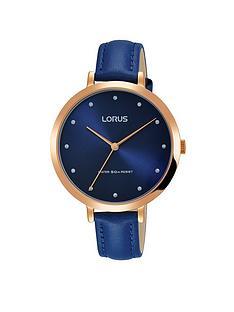lorus-lorus-womens-stylish-blue-leather-strap-rose-gold-case-watch