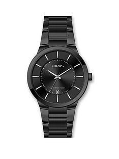 lorus-mens-dress-black-bracelet-watch