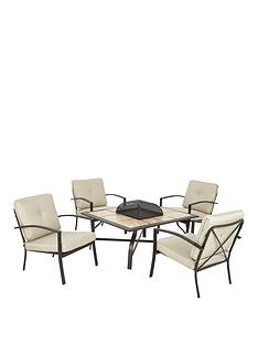 mission-ridge-5-piece-outdoor-low-level-firepitnbsptable-and-chairs-set