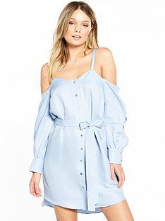 river-island-cold-shoulder-dress