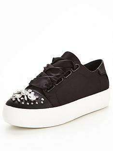 v-by-very-julia-jewelled-toe-lace-up-trainer-black