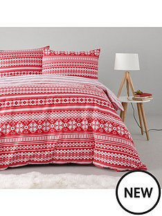 fairisle-christmas-100-brushed-cotton-duvet-cover-set