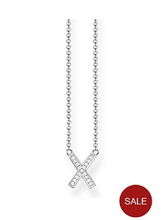 thomas-sabo-sterling-silver-cubic-zirconia-classic-x-cross-necklace